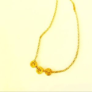 gorjana necklace with 3 circles